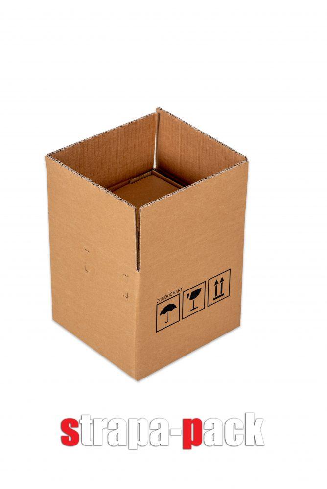 Kartondoboz jelölésekwebshop számára: nedvességtől óvandó, törékeny áru, csomag helyzete fölfelé.